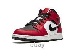 Air Jordan 1 MID Chicago Orteil Noir Taille 8.5 Et 9.5 Chez Les Hommes Us