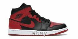 Air Jordan 1 MID Interdit 554724-074 Noir & Rouge Tailles 8-13 Basket-ball