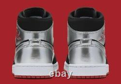 Air Jordan 1 MID Johnny Kilroy 554724 057 Hommes Taille 10 Nouveau Noir/gym Rouge-argent