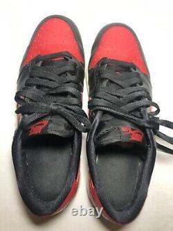 Air Jordan 1 Rétro Low Og Bred Noir/rouge 2015 Taille 10 Hommes 705329-001