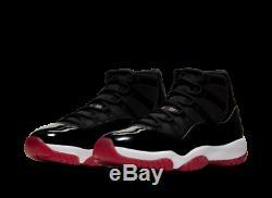 Air Jordan 11 Noir / Rouge Bred Retro 45 11 Nike Neu Animaux Morts