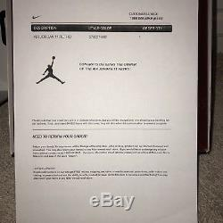 Air Jordan 11 Retro 72-10 Noir Gym Rouge Anthracite Sz 10.5 Dead Stock Tout Neuf