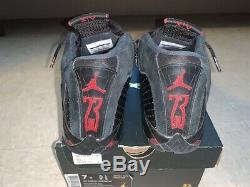 Air Jordan 14 Retro Last Shot Noir / Rouge Taille Mens 7y