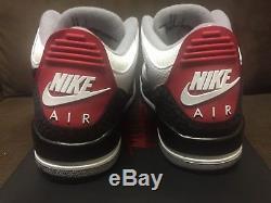 Air Jordan 3 Tinker Hatfield Rouge / Noir / Blanc / Gris Mort Stock Sz12 Us