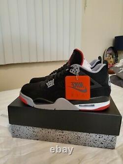 Air Jordan 4 Bred Retro IV Og Black Cement Red (dead-stock) 308497 060 Taille 9,5