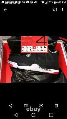 Air Jordan 4 IV Blk Tailles De Ciment Rouge 7-12