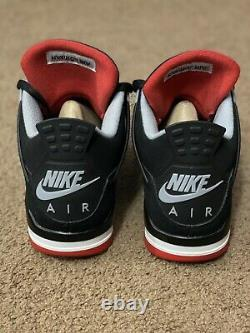 Air Jordan 4 Retro Bred 2019 Noir/rouge Taille Mens 9.5 308497-060