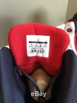 Air Jordan Pro Strong 407285-005 Noir Varsity Rouge-blanc Sz 11 Dead Stock