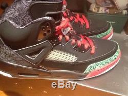 Air Jordan Spizike Noir Rouge Et Vert Taille 11.5 Morts Stock