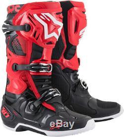 Alpinestars Tech 10 Motorcycle Boot Noir / Rouge Toutes Les Tailles
