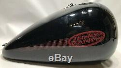 Authentique Harley Davidson Fxst Softail Standard 2002 Réservoir D'essence Fuel Noir Rouge