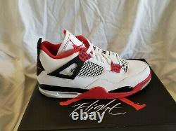 Authentique Nike Air Jordan 4 Retro Fire Red 2020 Taille 13 Neuf Deadstock