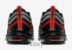 Authentique Nike Air Max 97 Bred (hommes Taille Uk 8 10 11) Noir Rouge Réfléchissant