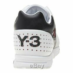 Authentique Nwt Yohji Yamamoto Y-3 Blanc / Noir / Rouge Zx Formateurs Run. Fr 9 (43)