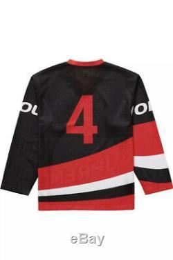 Authentique Suprême 2019 Hockey Jersey M Fw19 Noir Rouge Dead Stock Hypebeast
