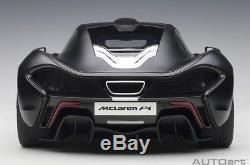 Autoart Mclaren P1 2013 Accents Mat / Black / Red Red Échelle 1/12 Nouveau! En Stock