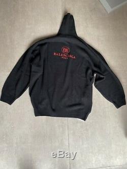 Balenciaga Taille Pull À Col Roulé M Neuf Jamais Porté Ds Logo Rouge Animal Mort Noir