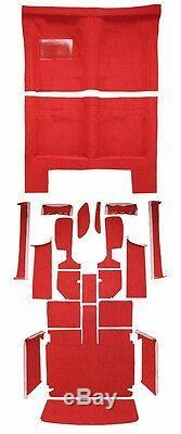 Bandes De Console Pour Kit De Tapis Moulé De Remplacement, 1966 Dodge Charger, Noir, Rouge À 4 Vitesses