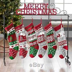 Bas Noir Rouge Métal Autoportant Noël Support À Décoration De Vacances