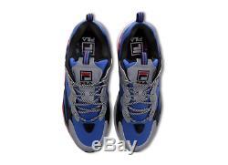 Baskets Hommes Fila Ray Tracer Bleu-noir-rouge Stocks Toutes Les Tailles