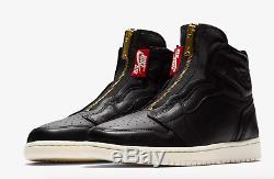 Baskets Nike Air Jordan 1 Haute Zip Noir / Université Rouge Pour Femme
