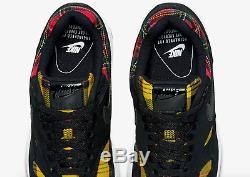 Baskets Nike Air Max 1 Se Noir / Université Rouge / Amarill Pour Femme Limitées
