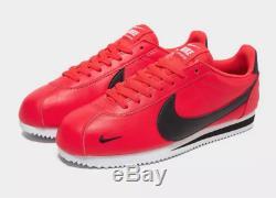 Baskets Nike Cortez Leather Rouge-noir Pour Homme Toutes Les Tailles Stock Limité Kdi