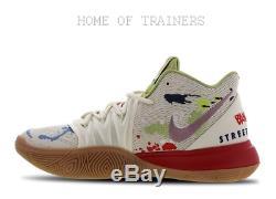 Baskets Nike Kyrie 5 Gris Noir Rouge Pour Homme Toutes Les Tailles Stock Limité