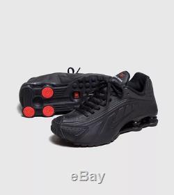Baskets Nike Shox R4 Triple Noir Rouge Pour Femme Toutes Les Tailles Stock Limité