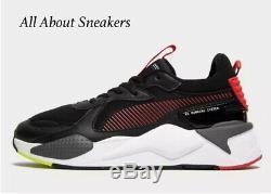 Baskets Puma Rs-x Verni Noir-rouge Pour Homme Toutes Les Tailles Stock Limité