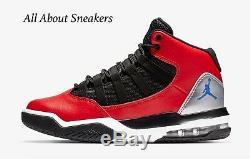 Baskets Unisexes Junior Nike Jordan Max Aura University Rouges / Noires Pour Stock Limité