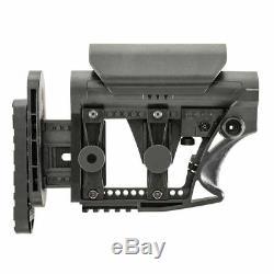 Black Rifle Stock Black Avec Base Pivotante Rouge