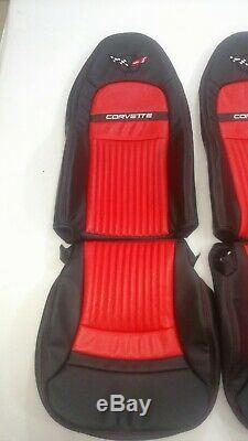 C5 Corvettes Standards Sièges En Cuir Synthétique Couvre (1997-2004) Black & Red