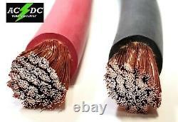 Câble De Soudage Red Black 2/0 Jauge Copper Wire Sae J1127 Car Battery Solar