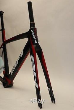 Cadre De Route Et Fourche Bh G6 Aero Carbon Xs / 52 CM Noir / Rouge Nouveau Old Stock