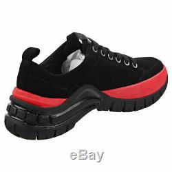 Calvin Klein Tisha Femmes Noir Rouge Suede Shoes Plate-forme