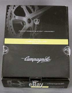 Campagnolo Centaure Noir & Rouge Alliage 10 Vitesses 175 39/53 Pédalier New Old Stock