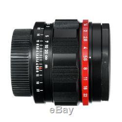 Canon 50 MM F1.4 Lens L39 Leica Ltm repeinte Repeindre Matte Noir / Rouge / Cla'd