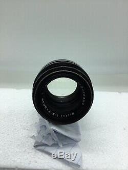 Carl Zeiss Jena 58mm F2 Biotar Rouge Noir T-17 58/2 Lentille Lame Exakta