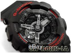 Casio G-shock Ga-110hr-1a Noir Et Rouge Série Standard Analogique Numérique Montre Homme