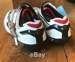 Chaussures Cyclisme Route Shimano Hommes Sh-r315, Eur 43,5 Blanc / Noir / Rouge Nouveau Vieux Stock