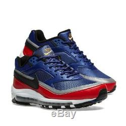 Chaussures Hommes Nike Air Max 97 Bw Deep Royal, Noires Et Rouges - Stock Limité: Royaume-uni 7