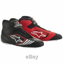 Chaussures Kart Alpinestars Tech-1 Kx Noir Rouge Achilles' Support Talon Stock