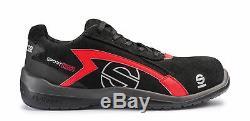 Chaussures Sparco Sport Evo Racing Bottes Race Sport Mécanique Rallye Noir Rouge-rouge