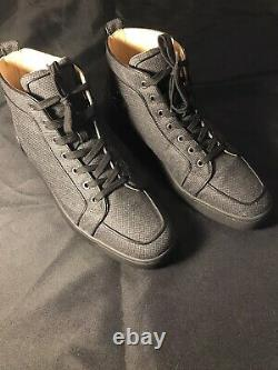 Christian Louboutin Gris Noir Rouge Bas Sneakers 43,5 10,5 Chaussures Authentic