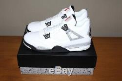 Ciment Rétro Nike Air Jordan 4 IV Og Blanc / Rouge-gris / Blanc Gris Stock Mort Ds 14