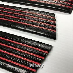 Convient 88-98 Cheverolet Gmc Sc Sb Sport Ss Black Red Line Precut Body Molding Trim