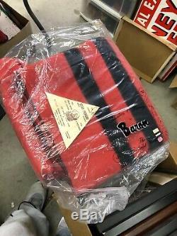 Couverture En Laine Pionnier De L'utah Woolen Mills 72 X 90 Rayures Rouges Et Noires Avec Des Rayures Noires New Old Stock