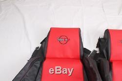 Couvertures De Siège En Cuir Corvette Sur Mesure 84-88 C4 Pour Sièges Standard Noir Rouge