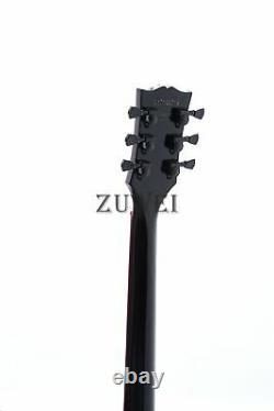 Custom Shop Lp Black Beauty Electric Guitar 3pcs Humbuckers Red Binding & Incrustation